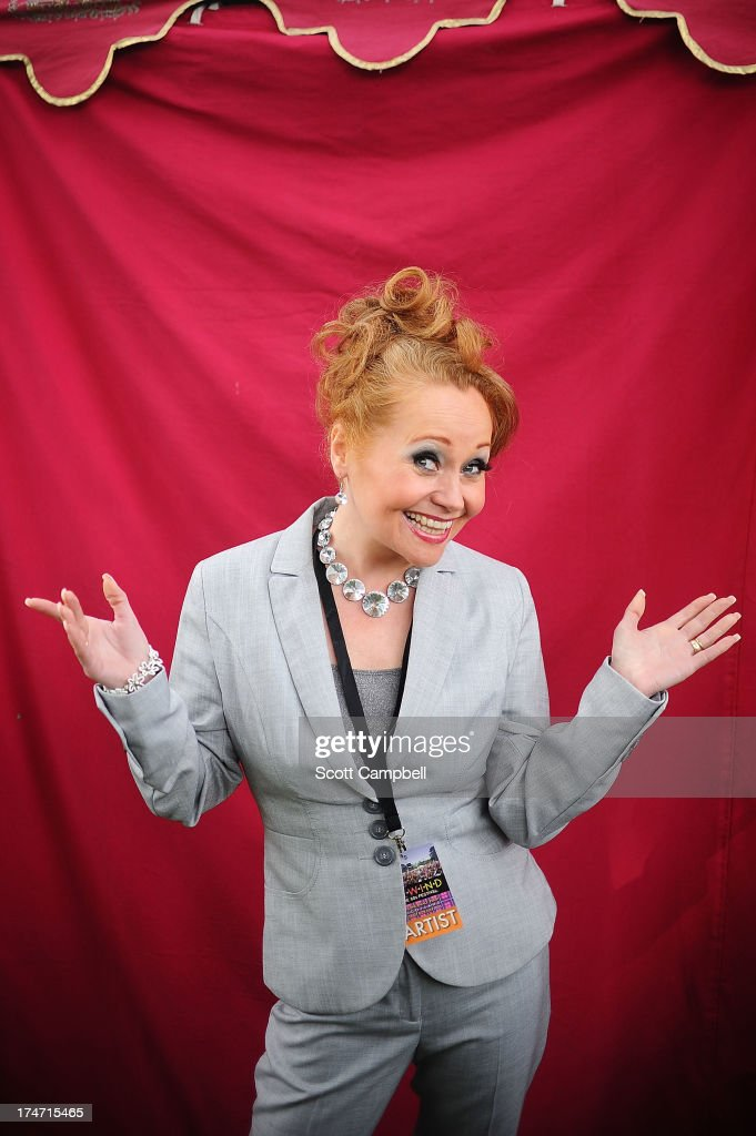Sonia poses for a portrait on Day 3 of Rewind 80s Festival 2013 at Scone Palace on July 28, 2013 in Perth, Scotland.