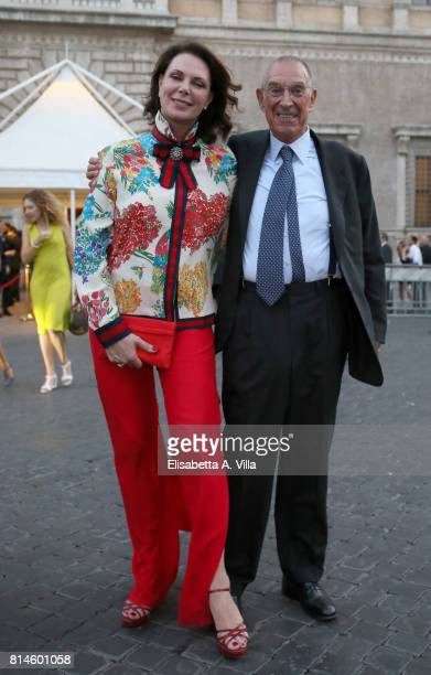 Sonia Raule and Franco Tato attends French National Day celebrations on July 14 2017 in Rome Italy