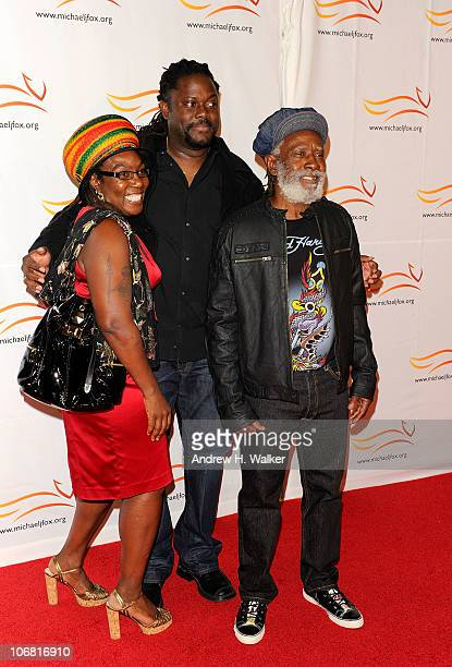 Sonia Rodney and Burning Spear attend the Michael J Fox Foundation's 2010 Benefit 'A Funny Thing Happened on the Way to Cure Parkinson's' at The...