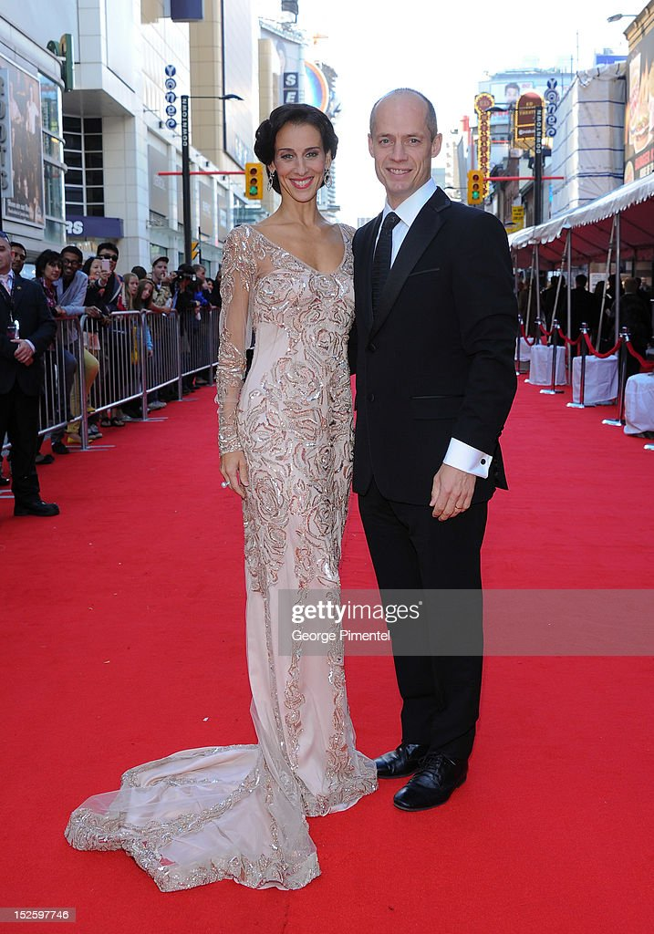 Sonia Rodriguez and Kurt Browning attends the 2012 Canada's Walk of Fame Awards at Ed Mirvish Theatre on September 22, 2012 in Toronto, Canada.