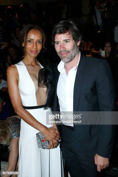 Sonia Rolland and her husband Jalil Lespert attend the Stephane Rolland Haute Couture Fall/Winter 20172018 show as part of Haute Couture Paris...