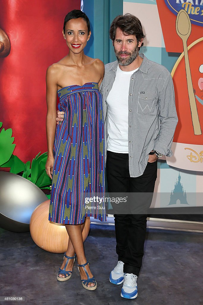 Sonia Rolland and Jalil Lespert attend the launch of 'RatatouilleThe Adventure' at Disneyland Resort Paris on June 21 2014 in Paris France