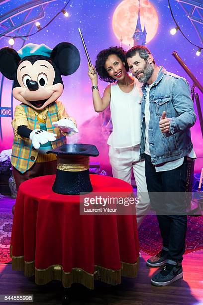 Sonia Rolland and Jalil Lespert attend the new show of Disneyland Paris 'Mickey et le Magicien' at Disneyland Paris on July 2 2016 in Paris France