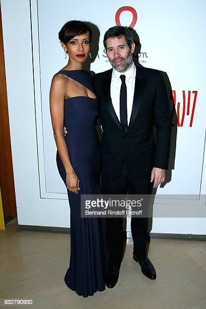 Sonia Rolland and Jalil Lespert attend the Sidaction Gala Dinner 2017 Haute Couture Spring Summer 2017 show as part of Paris Fashion Week on January...