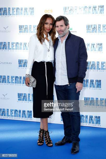 Sonia Rolland and Jalil Lespert attend 'Valerian et la Cite des Mille Planetes' Paris premiere at La Cite Du Cinema on July 25 2017 in SaintDenis...