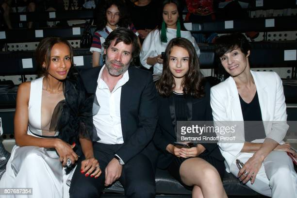 Sonia Rolland her husband Jalil Lespert Dancer MarieClaude Pietragalla and her daughter Lola attend the Stephane Rolland Haute Couture Fall/Winter...