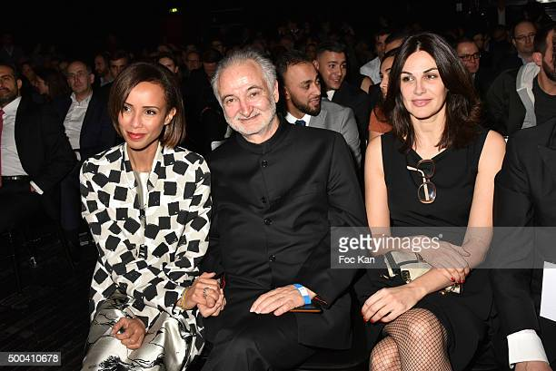 Sonia Rolland Jacques Attali and Helena Noguerra attend the 'Positive Awards' Ceremony at La Gaiete Lyrique on December 7 2015 in Paris France