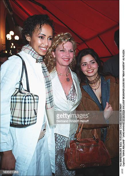 Sonia Rolland 'Jane Manson' and her daughter lunch Louis XIII 'Remy Martin' at the Plazza woman