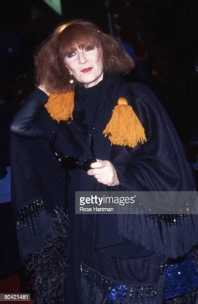 Sonia Rykiel arrives at Plaza Hotel NYC 1988