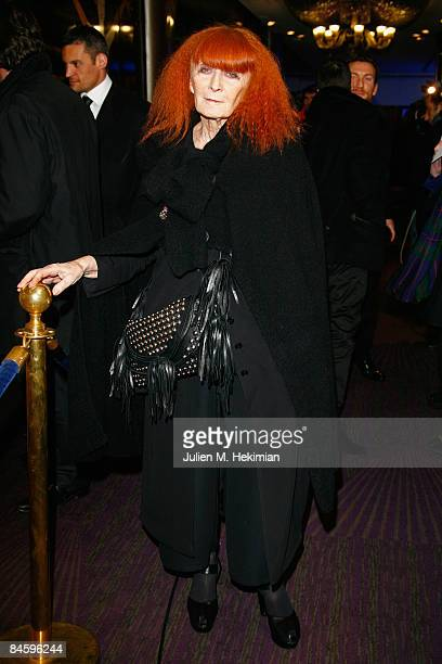 Sonia Rykiel attends Globes of Cristal Awards for Art and Culture on February 2 2009 in Paris France