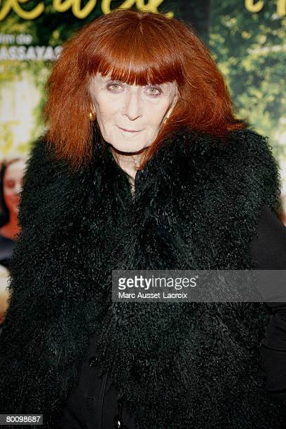 Sonia Rykiel attends the premiere of 'L'heure D'ete' March 3 2008 at the Orsay Museum in Paris France