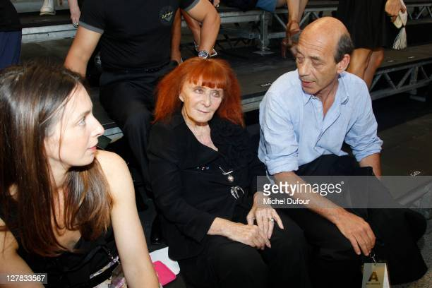 Sonia Rykiel attends the Sonia Rykiel Ready to Wear Spring / Summer 2012 show during Paris Fashion Week at Halle Freyssinet on October 1 2011 in...
