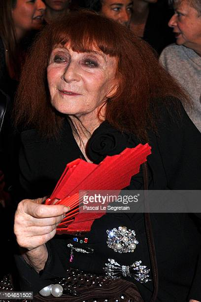 Sonia Rykiel attends the Sonia Rykiel Ready to Wear Spring/Summer 2011 show during Paris Fashion Week on October 2 2010 in Paris France