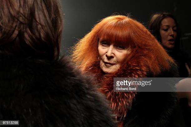 Sonia Rykiel poses backstage after the Sonia Rykiel Ready to Wear show as part of the Paris Womenswear Fashion Week Fall/Winter 2011 at Halle...