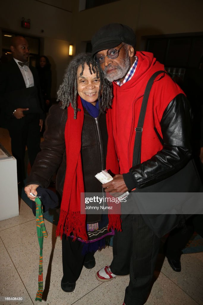Sonia Sanchez and <a gi-track='captionPersonalityLinkClicked' href=/galleries/search?phrase=Melvin+Van+Peebles&family=editorial&specificpeople=209389 ng-click='$event.stopPropagation()'>Melvin Van Peebles</a> attend the 'Free Angela and All Political Prisoners' New York Premiere at The Schomburg Center for Research in Black Culture on April 3, 2013 in New York City.