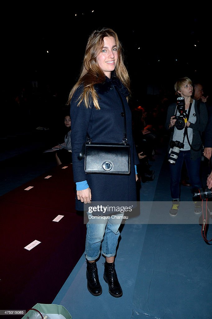 Sonia Sieff attends the Nina Ricci show as part of the Paris Fashion Week Womenswear Fall/Winter 2014-2015 on February 27, 2014 in Paris, France.