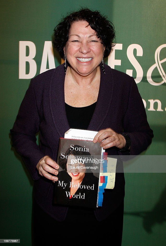 "Sonia Sotomayor Signs Copies Of Her Book ""My Beloved World"""