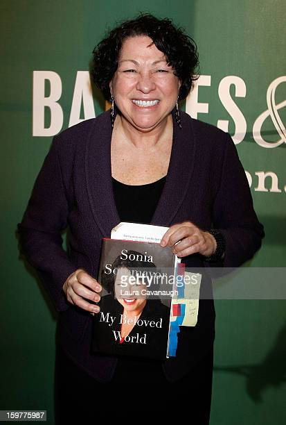 Sonia Sotomayor promotes the new book 'My Beloved World' at Barnes Noble Union Square on January 20 2013 in New York City