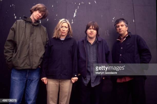 Sonic Youth group portrait London United Kingdom 1998 LR Thurston Moore Kim Gordon Steve Shelley and Lee Ranaldo