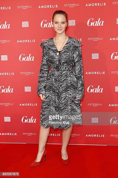 Sonja Gerhardt attends the 'Gala' fashion brunch during the MercedesBenz Fashion Week Berlin A/W 2017 at Ellington Hotel on January 19 2017 in Berlin...