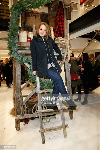 Sonja Gerhardt attends the Woolrich Store Opening on November 25 2015 in Berlin Germany