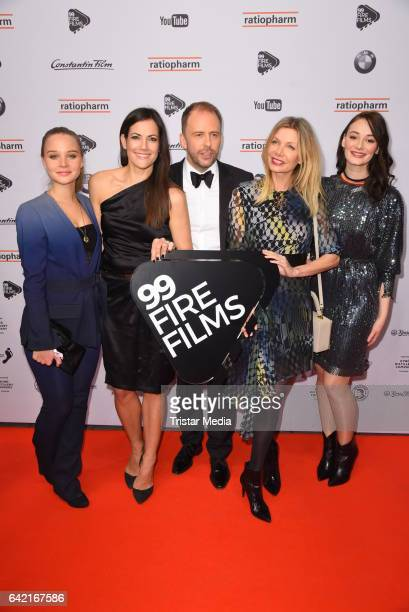 Sonja Gerhardt Bettina Zimmermann Stefan Kiwit Ursula Karven and Maria Ehrich attend the 99FireFilmsAward at Admiralspalast on February 16 2017 in...