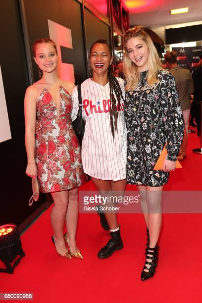 Sonja Gerhardt Djane Taneshia Abt and LisaMarie Koroll during the New Faces Award Film at Haus Ungarn on April 27 2017 in Berlin Germany
