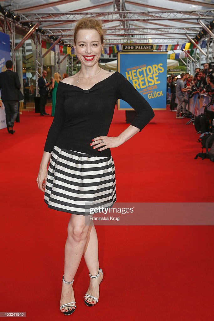 Sonja Kerskes attends the premiere of the film 'Hector and the Search for Happiness' (German title: 'Hectors Reise') at Zoo Palast on August 05, 2014 in Berlin, Germany.