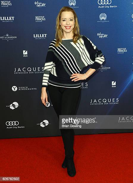 Sonja Kerskes on the red carpet on arrival for the opening film of the 16th French Film Week Berlin 'L'Odyssee' at Kino International on November 30...
