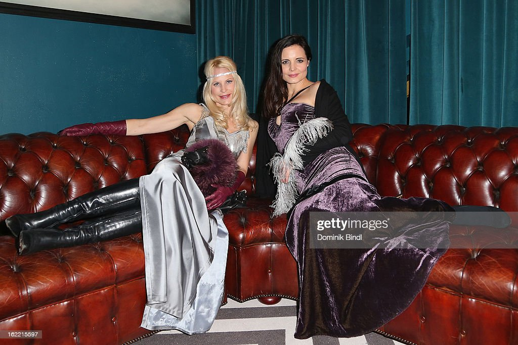 Sonja Kiefer and Elisabeth Lanz attends the Lazy Moon Dinner Club opening party on February 20, 2013 in Munich, Germany.