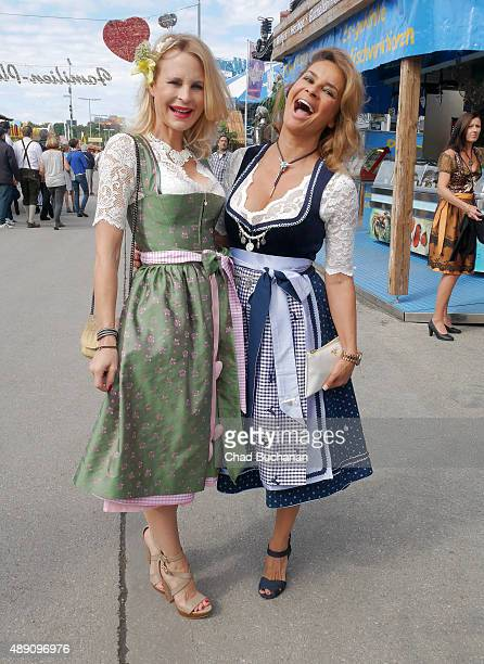 Sonja Kiefer and Gitta Saxx sighted at the Fisch Baeda during the Oktoberfest 2015 Opening at Theresienwiese on September 19 2015 in Munich Germany