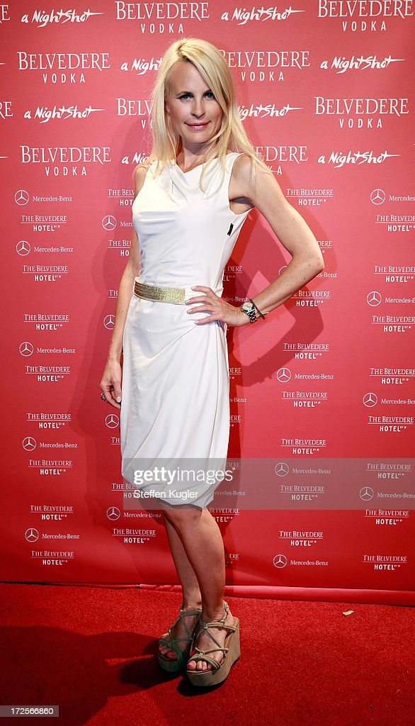 Sonja Kiefer arrives at the NightShot Event Party on July 3, 2013 in Berlin, Germany.