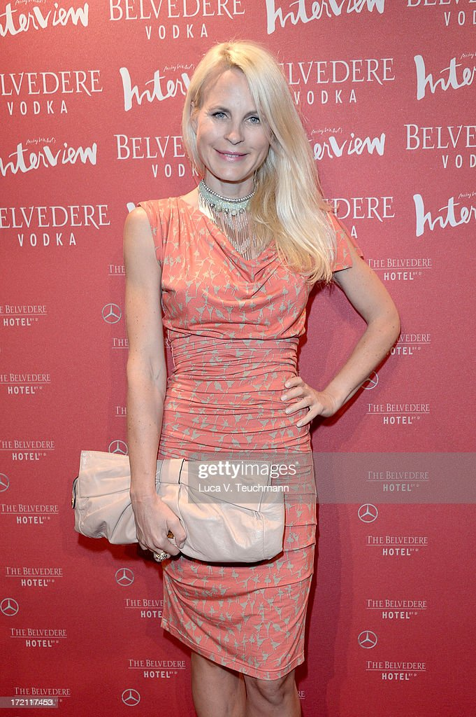 Sonja Kiefer attends the Belvedere Vodka and Interview Magazin Party at THE BELVEDERE HOTEL by Q! on July 1, 2013 in Berlin, Germany.