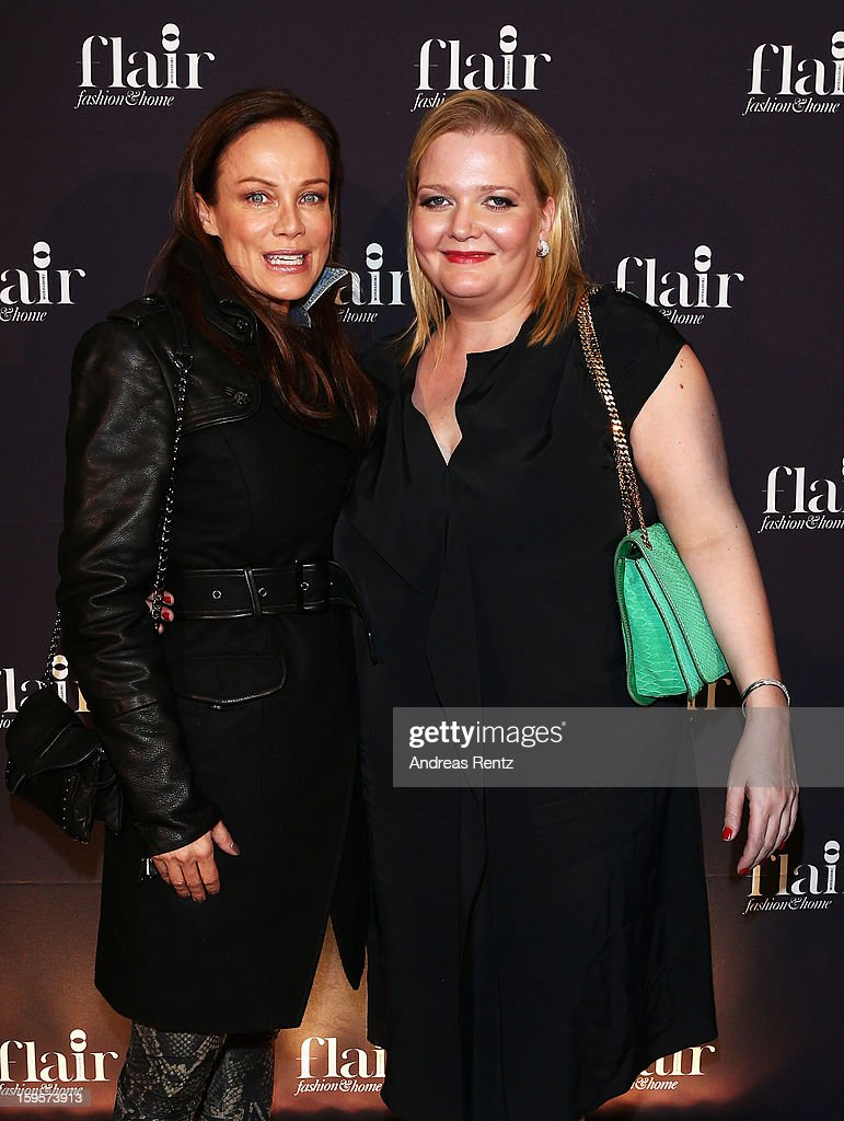 Sonja Kirchberger (L) and Ingrid Rose attend Flair Magazine Party at Pariser Platz 4 on January 15, 2013 in Berlin, Germany.