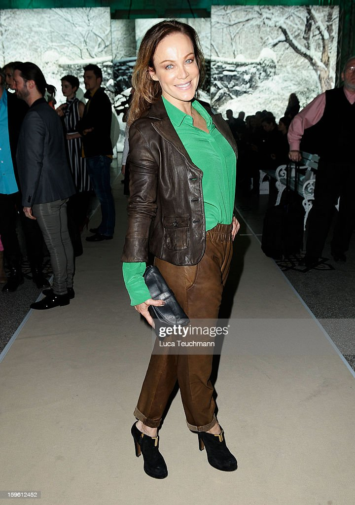 Sonja Kirchberger attends Marc Cain Autumn/Winter 2013/14 fashion show during Mercedes-Benz Fashion Week Berlin at Hotel de Rome on January 17, 2013 in Berlin, Germany.