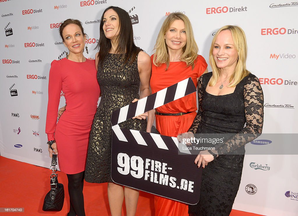 Sonja Kirchberger, Bettina Zimmermann, Ursula Karven and Dorkas Kiefer attend the 5th '99Fire-Films-Award' - Red Carpet Arrivals at Admiralspalast on February 14, 2013 in Berlin, Germany.