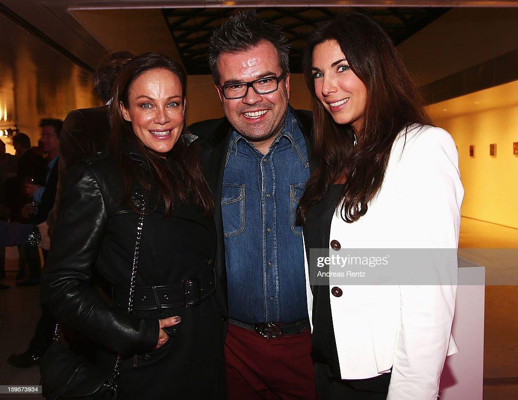 Sonja Kirchberger, Reinhard Maetzler and Alexandra Polzin attend Flair Magazine Party at Pariser Platz 4 on January 15, 2013 in Berlin, Germany.