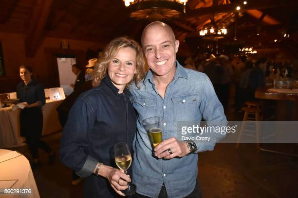 Sonja Magdevski and Greg Brewer attend Hearst Castle Preservation Foundation Annual Benefit Weekend 'Hearst Ranch Patron Cowboy Cookout' at Hearst...