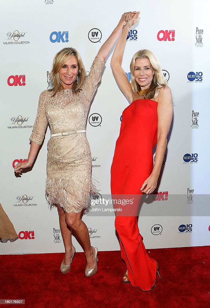 Sonja Morgan and Aviva Drescher attend the OK TV Launch Celebration at Lavo on September 9 2013 in New York City