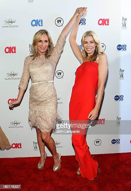 Sonja Morgan and Aviva Drescher attend the OK TV Launch Celebration at Lavo on September 9 2013 in New York City