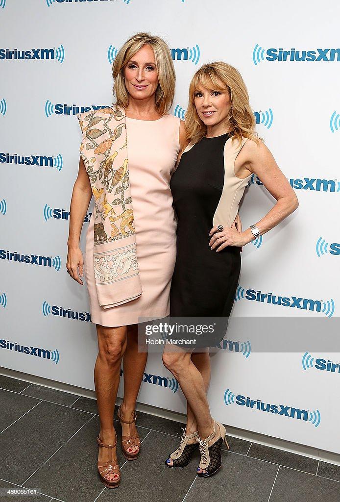 Sonja Morgan (L) and Ramona Singer visits at SiriusXM Studios on April 22, 2014 in New York City.