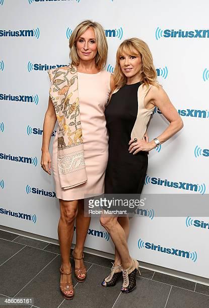Sonja Morgan and Ramona Singer visits at SiriusXM Studios on April 22 2014 in New York City