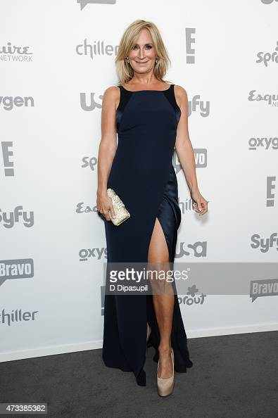 Sonja Morgan attends the 2015 NBCUniversal Cable Entertainment Upfront at The Jacob K Javits Convention Center on May 14 2015 in New York City