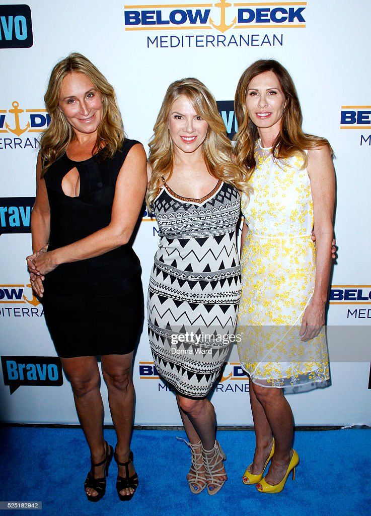 Sonja Morgan Ramona Singer and Carole Radziwill attend Bravo's 'Below Deck' Premiere at The IAC Building on April 27 2016 in New York City