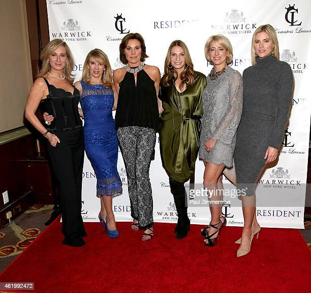 Sonja Morgan Ramona Singer LuAnn de Lesseps Heather Thomson Dorinda Medley and Kristen Taekman attend the Resident Magazine's New Year Edition launch...