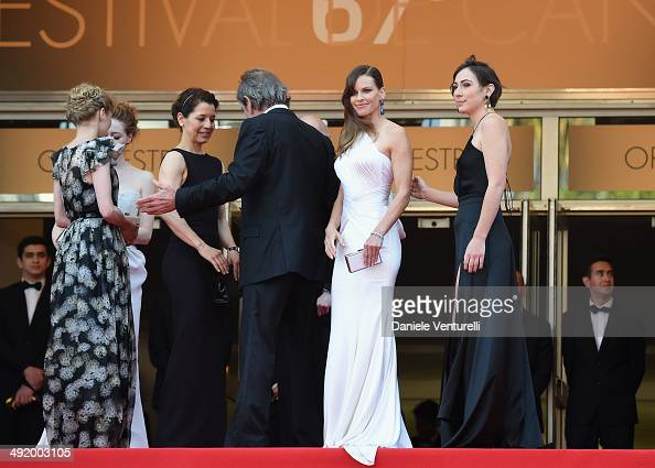 Sonja Richter Miranda Otto Dawn Jones Tommy Lee Jones Hilary Swank and guest attend 'The Homesman' Premiere at the 67th Annual Cannes Film Festival...