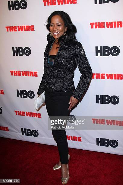 Sonja Sohn attends The New York Premiere of the Fifth and Final Season of HBO's THE WIRE at Chelsea West Cinema on January 4 2008 in New York City