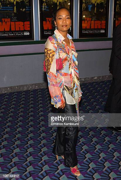 Sonja Sohn during HBOs Premiere of 'The Wire' Inside Arrivals at Chelsea 9 Cinemas in New York City New York United States