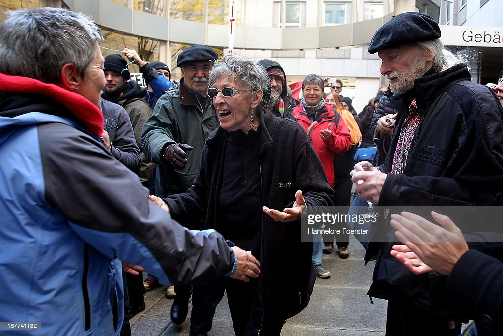 Sonja Suder, 80, who was part of left-wing terror group the Revolutionary Cells (Revolutionaere Zellen), leaves the Frankfurt Landgericht courthouse after a judge acquitted her of an alleged role in supporting the 1975 attack on OPEC headquarters in Vienna on November 12, 2013 in Frankfurt am Main, Germany. Suder was acquitted of an alledged role in the deadly 1975 terror attack but was convicted for aiding and abetting in three arson attacks in the late 1970s. In the brazen 1975 OPEC attack, which was funded by Libya and carried out by a team that included Carlos the Jackal, six terrorists took all 11 OPEC member oil ministers hostage and fled in an Austrian Airlines plane to Algeria. Suder was arrested in 2011 after living for years in France and was accused of having supported the OPEC attack and also carrying out three arson attacks in the late 1970s in southern Germany.