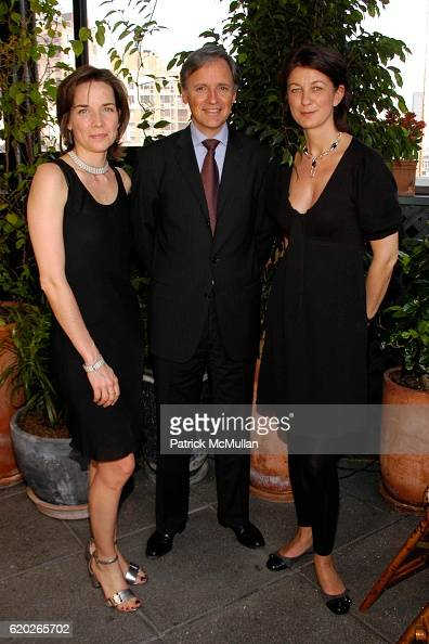 Sonja Winther Patrice Kretz and Claire Terentiev attend Stephanie Seymour and Patrice Kretz Celebrate the Chantelle Ad Campaign at The Gramercy Park...